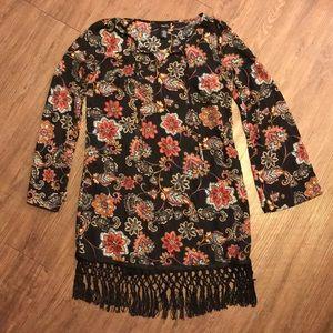 Tassel paisley dress